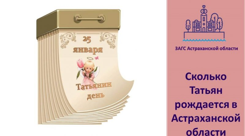 Астраханская служба ЗАГС: называют ли Татьянами в день Татьян?