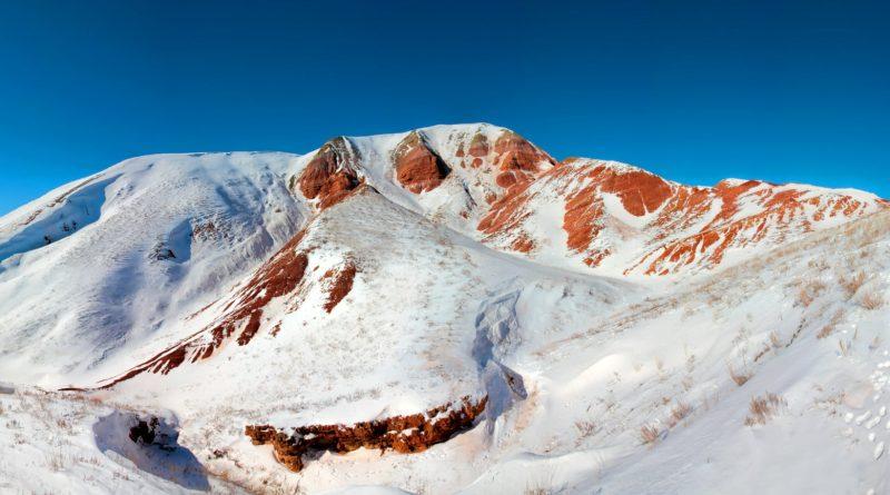Единственная астраханская гора оделась в снежный покров